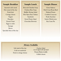 Sample Menu at Artman Lutheran Home in Ambler, PA